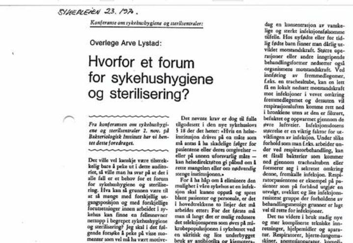 Historien om Smittevernforum