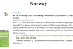 Rapport om antibiotikaresistens og smittevern i Norge